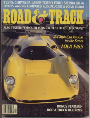 Cover of Road & Track 1984