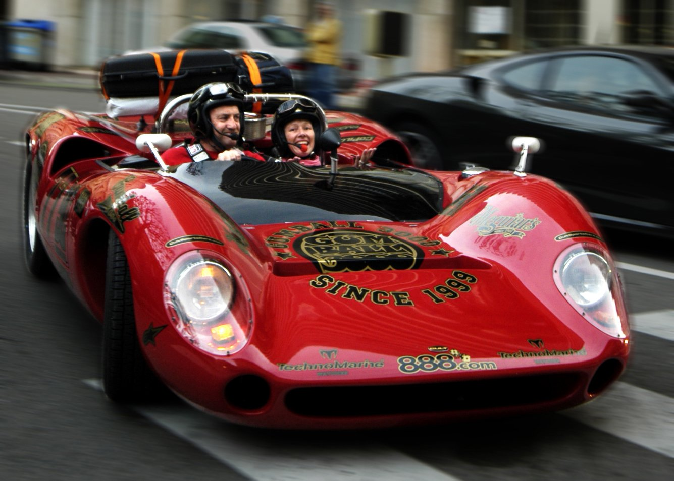 Driving from London to Monaco in a 1966 Lola T70.  This was the 2005 Gumball Rally.